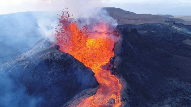 Iceland's Fagradalsfjall volcano bursts with lava