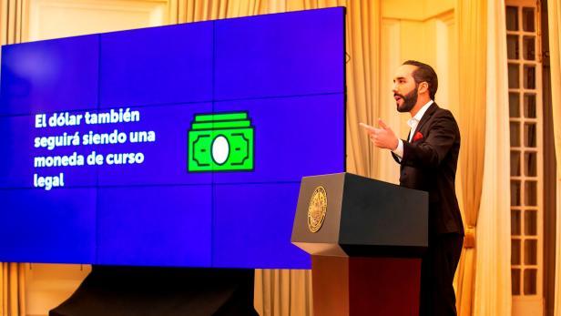 El Salvador's President Nayib Bukele addresses the nation during a live broadcast in San Salvador