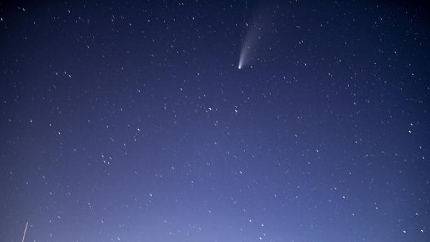 Comet NEOWISE Above Nothern America