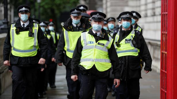Anti-vaccine protest in Westminster, London