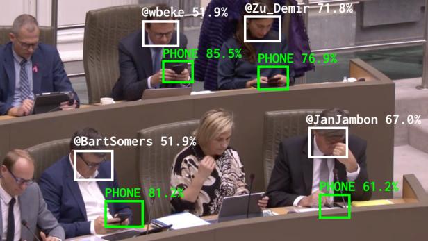 Bot-Sicht von Parlamentariern und Mobilgeräten