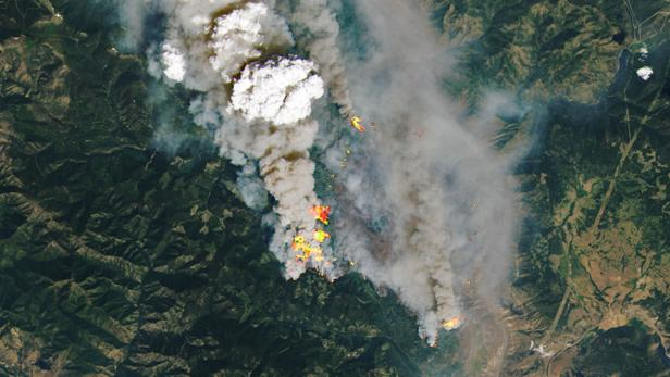 Wildfires in Canadian Province of British Columbia