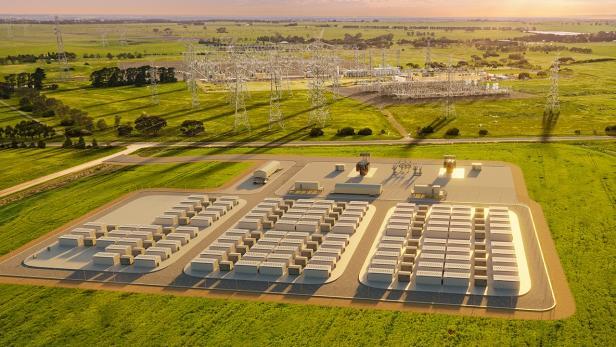 Rendering der Victorian Big Battery in Australien