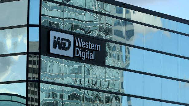 FILE PHOTO: A Western Digital office building is shown in Irvine, California