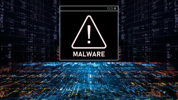 Abstract Warning of a detected malware program