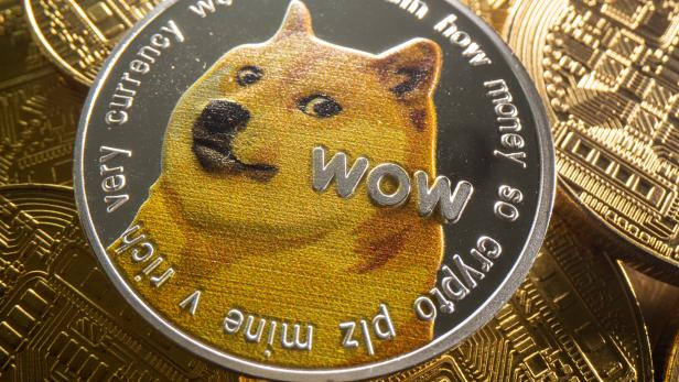 Representation of cryptocurrency Dogecoin is seen in this illustration