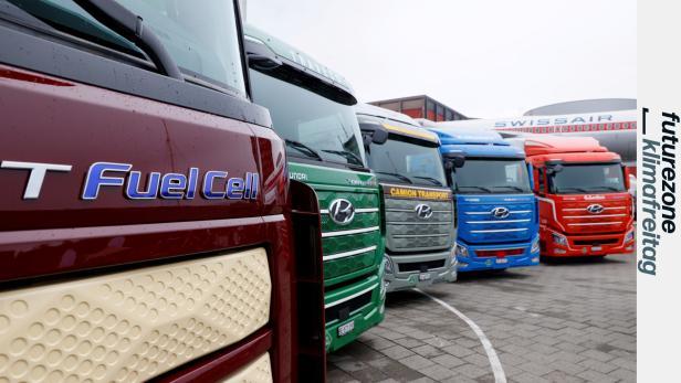 Fünf Hyundai-LKWs mit Wasserstoff-Antrieb