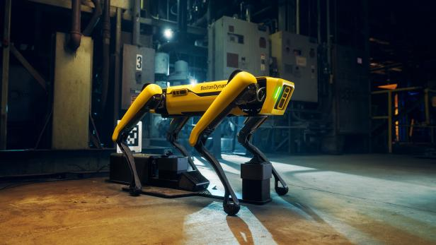 A handout image of Boston Dynamics' four-legged robot Spot