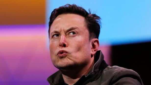 SpaceX owner and Tesla CEO Elon Musk reacts during a conversation with legendary game designer Todd Howard at the E3 gaming convention in Los Angeles