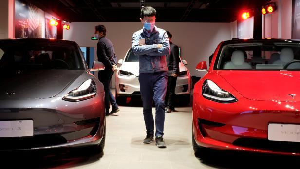Tesla-Showroom in Shanghai