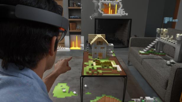 Microsoft Zeigt LiveDemo Von Minecraft Für HoloLens Futurezoneat - Minecraft spielen demo