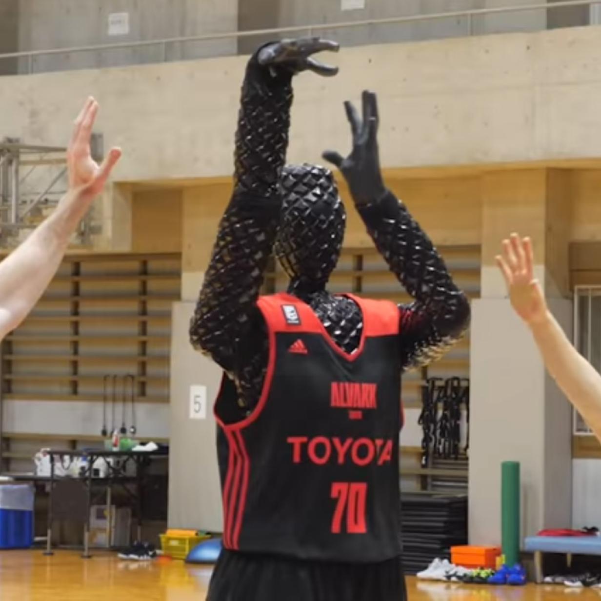 Basketball-Roboter schlägt Menschen beim Körbe werfen