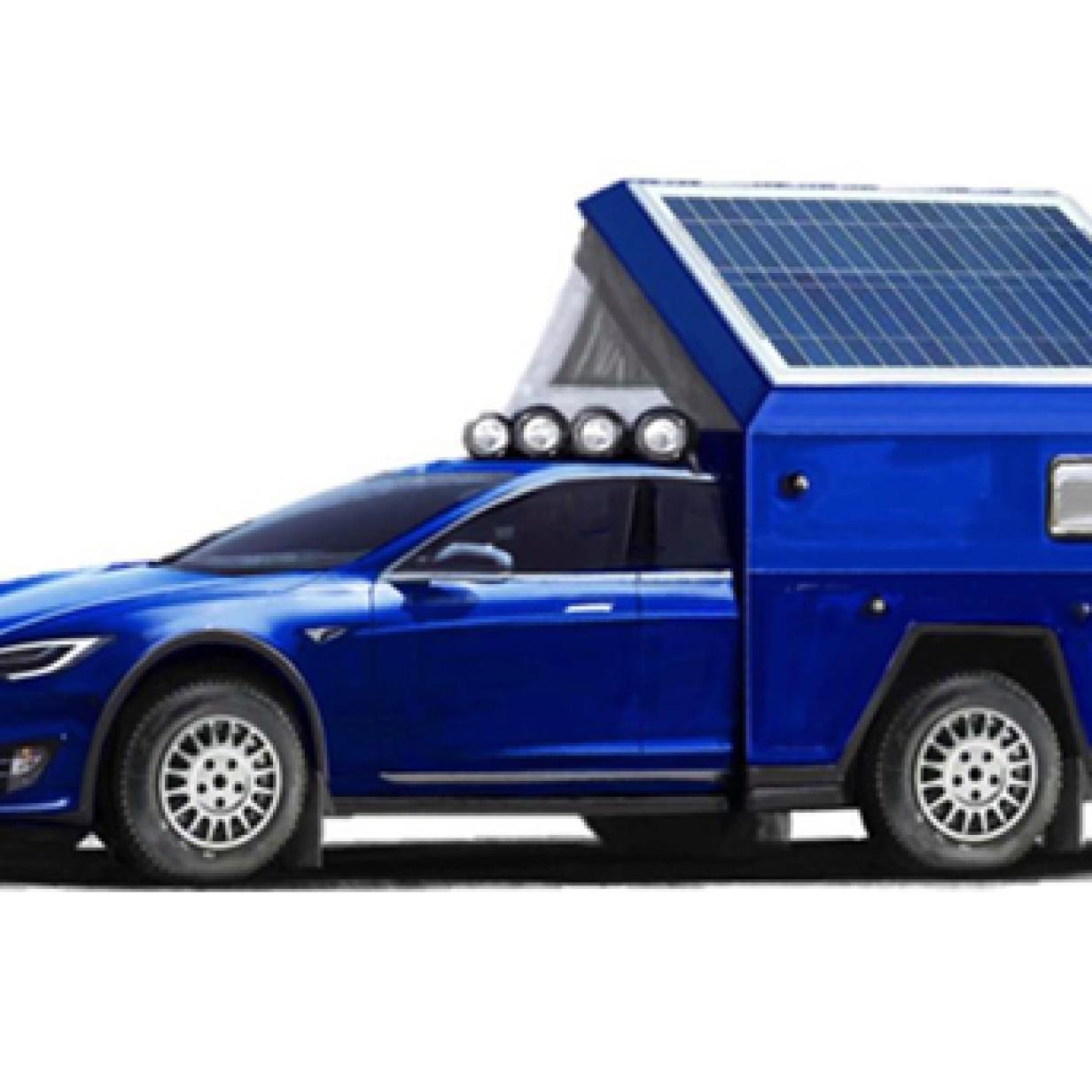 """""""Leichenwagen"""": Fotos von Tesla-Wohnmobil sorgen für Lacher"""