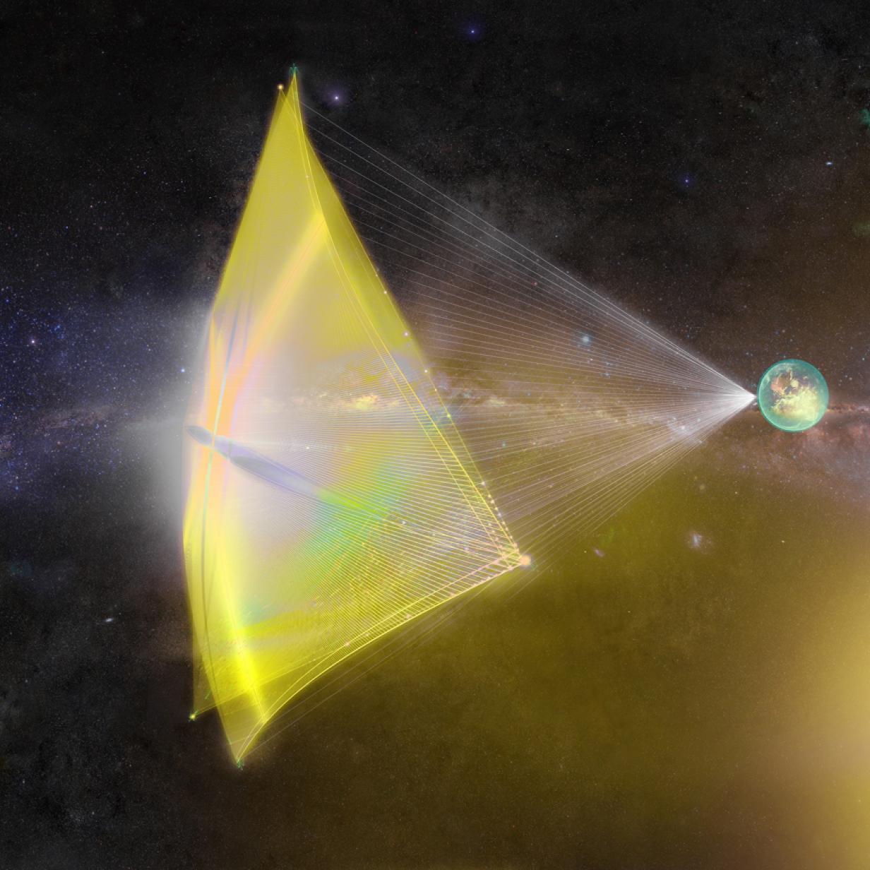 Mit Lasersegeln in drei Tagen zum Mars