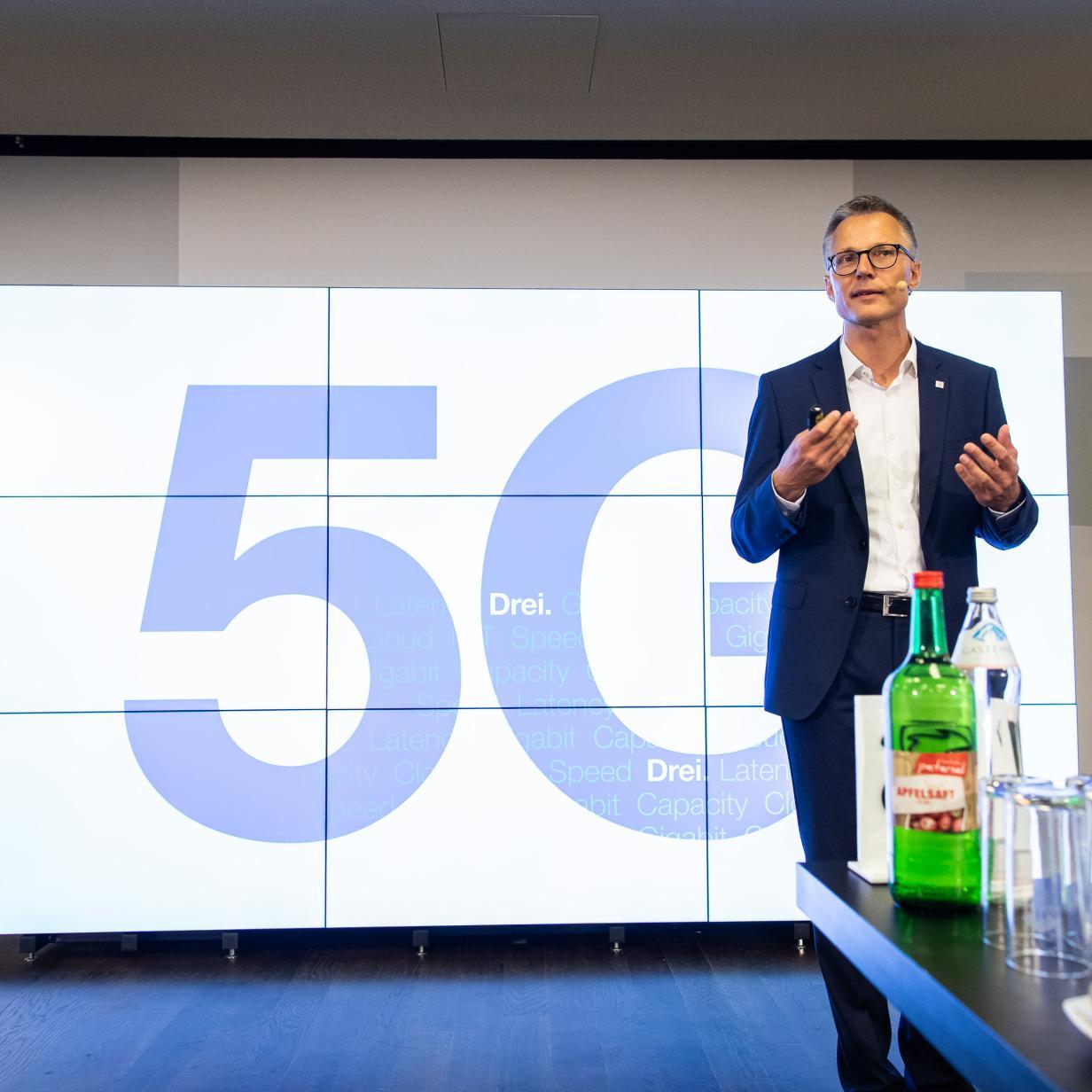 Drei startet 5G-Netz in Linz