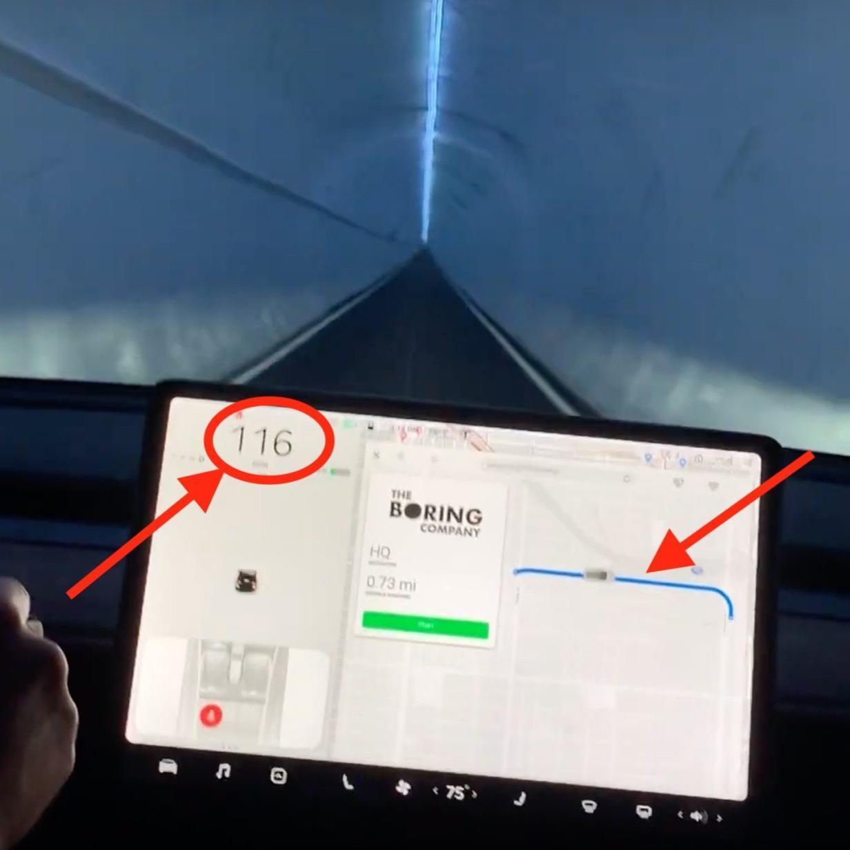 Video: Tesla-Model-3-Fahrt durch Loop-Tunnel in Los Angeles