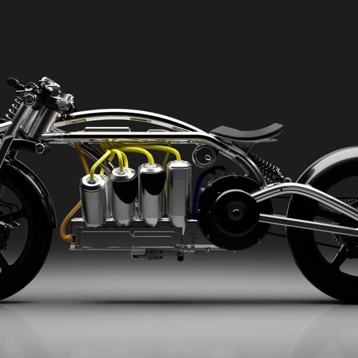 Spektakuläres E-Motorrad im Retro-Design mit V8-Akku präsentiert