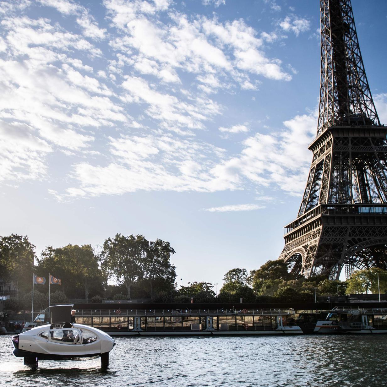 Sea Bubbles: Paris testet fliegende Wassertaxis