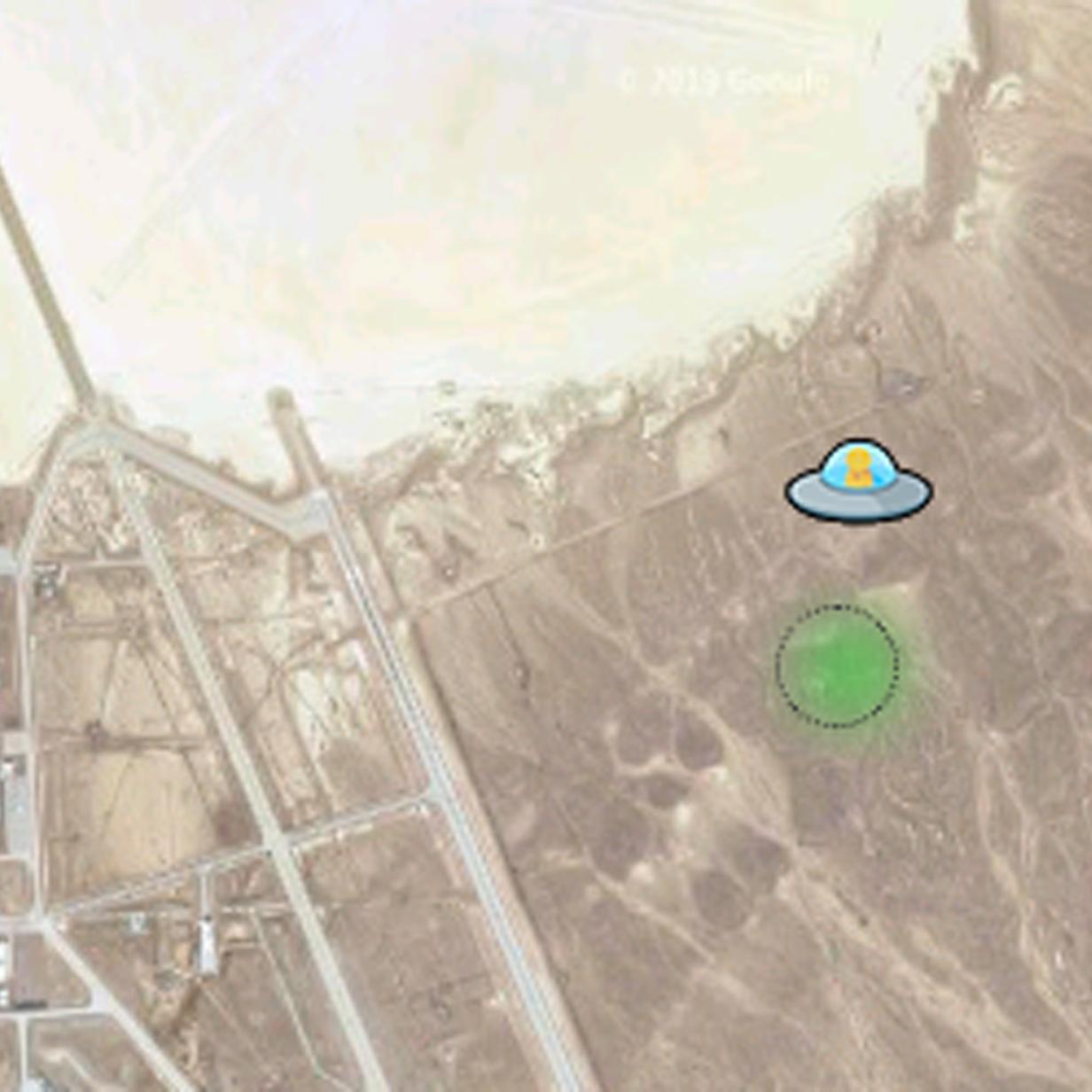 Google Maps lässt UFO über Area 51 fliegen