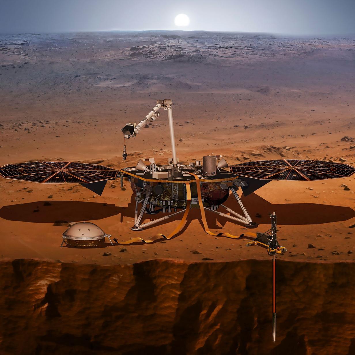 Bohrung auf dem Mars kommt wieder in die Gänge