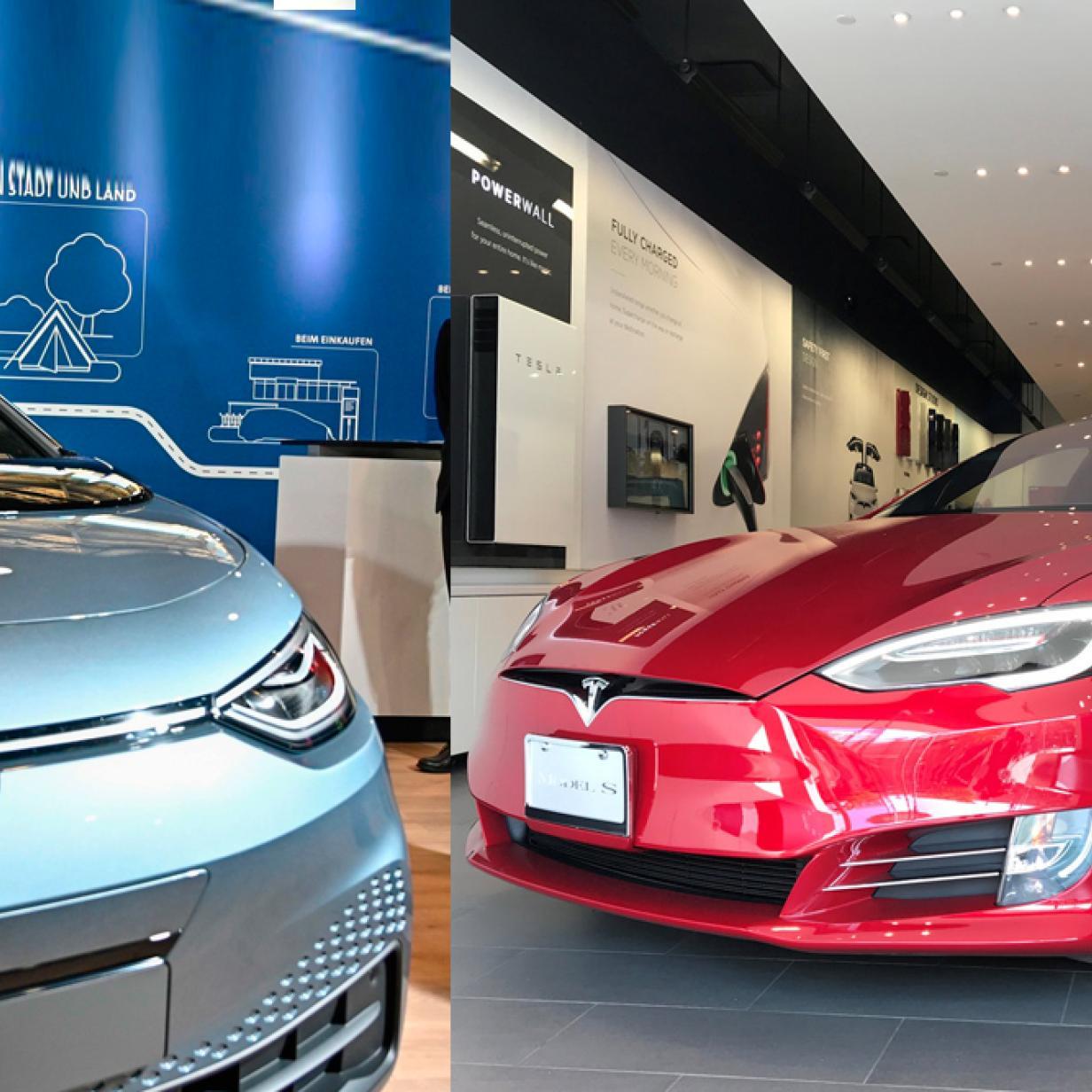 VW macht sich auf Werbeplakat über Tesla lustig