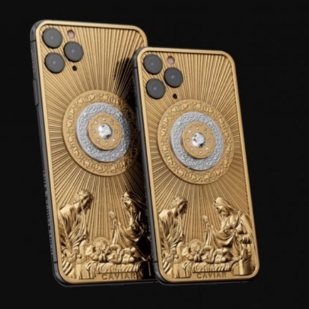 Dekadentes goldenes Jesus-iPhone für 115.000 Euro