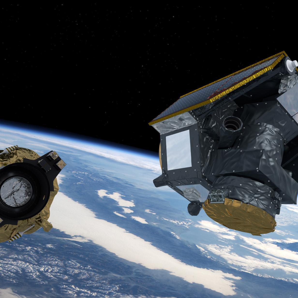 Auf Kollisionskurs: Zwei Satelliten stoßen demnächst zusammen