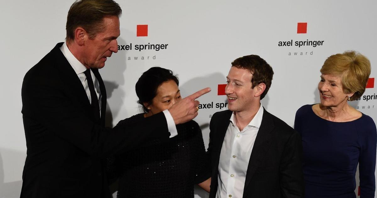 Mark Zuckerberg mit Axel Springer Award ausgezeichnet