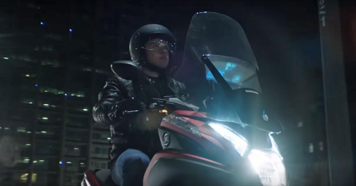 Samsung zeigt smarten Windschild für Motorräder