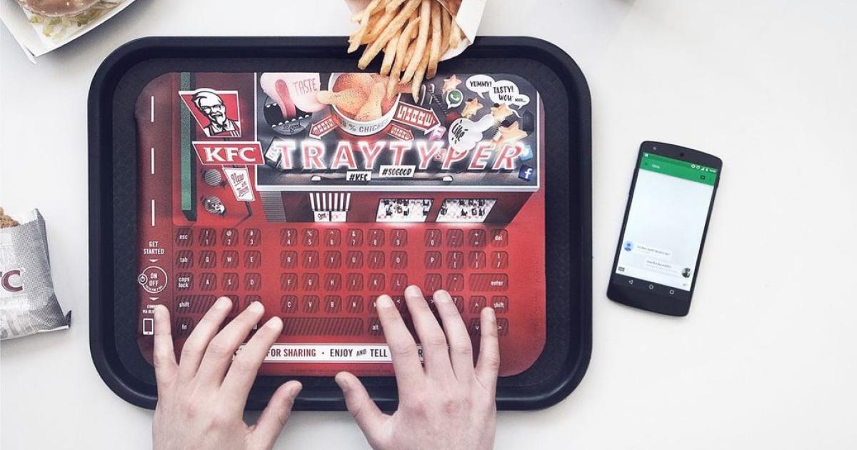 KFC verteilt fastfoodfingergeeignete Tastatur als Tablettschoner
