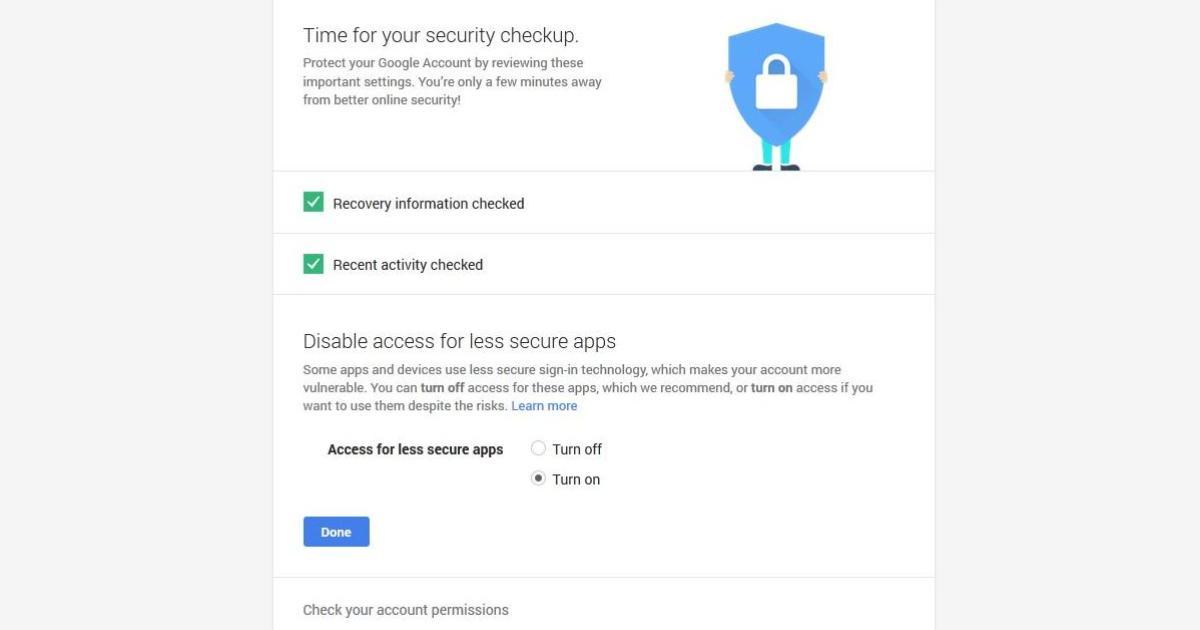 Google Mail Sicherheitscheck