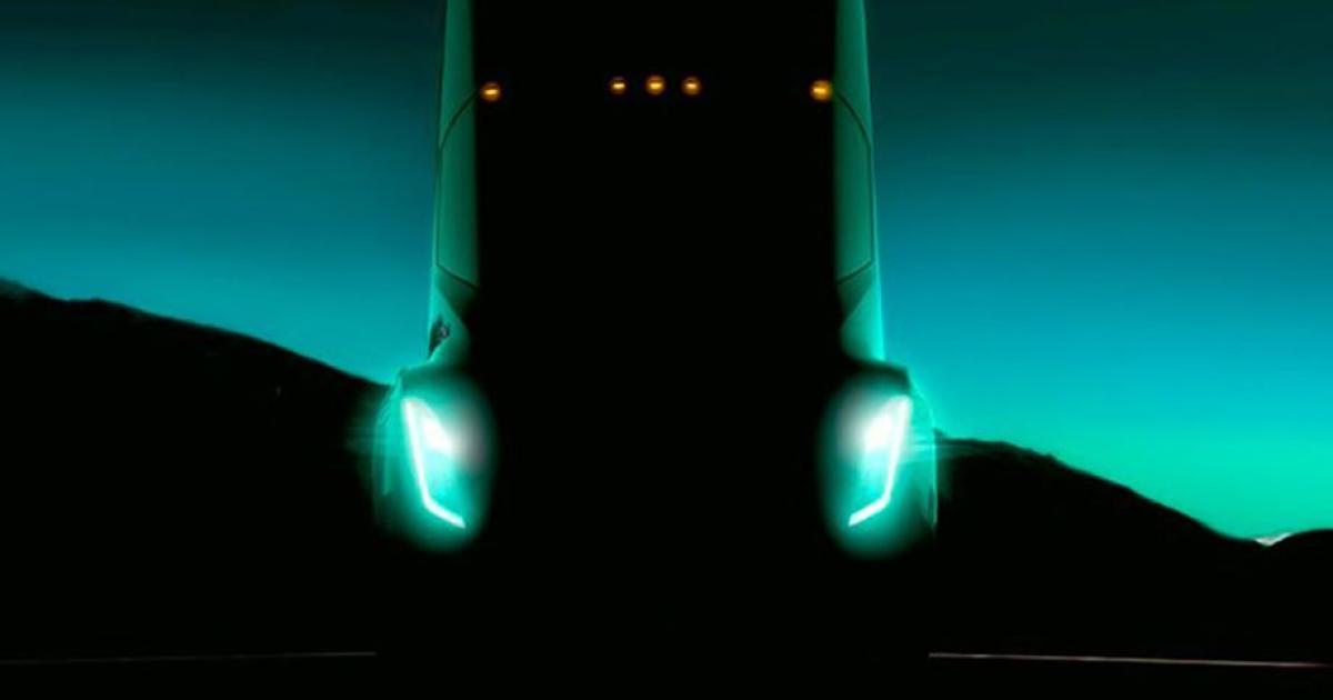 Tesla kündigt mit neuem Bild die Präsentation des E-Lkw an