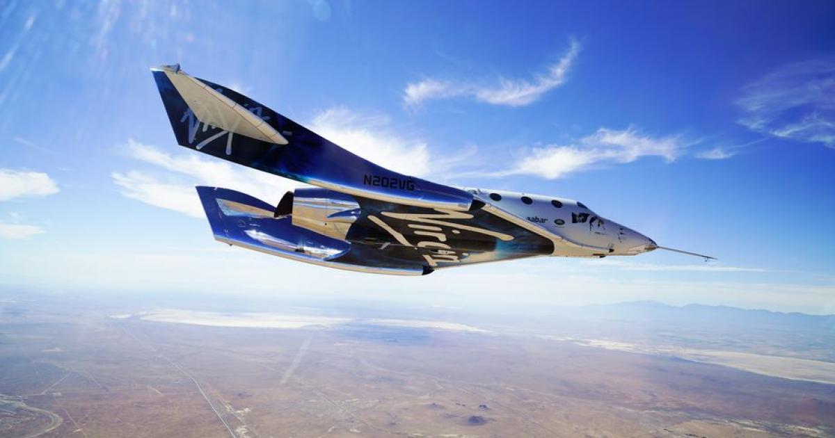 Virgin Galactic fliegt mit Mach 2 halb ins All