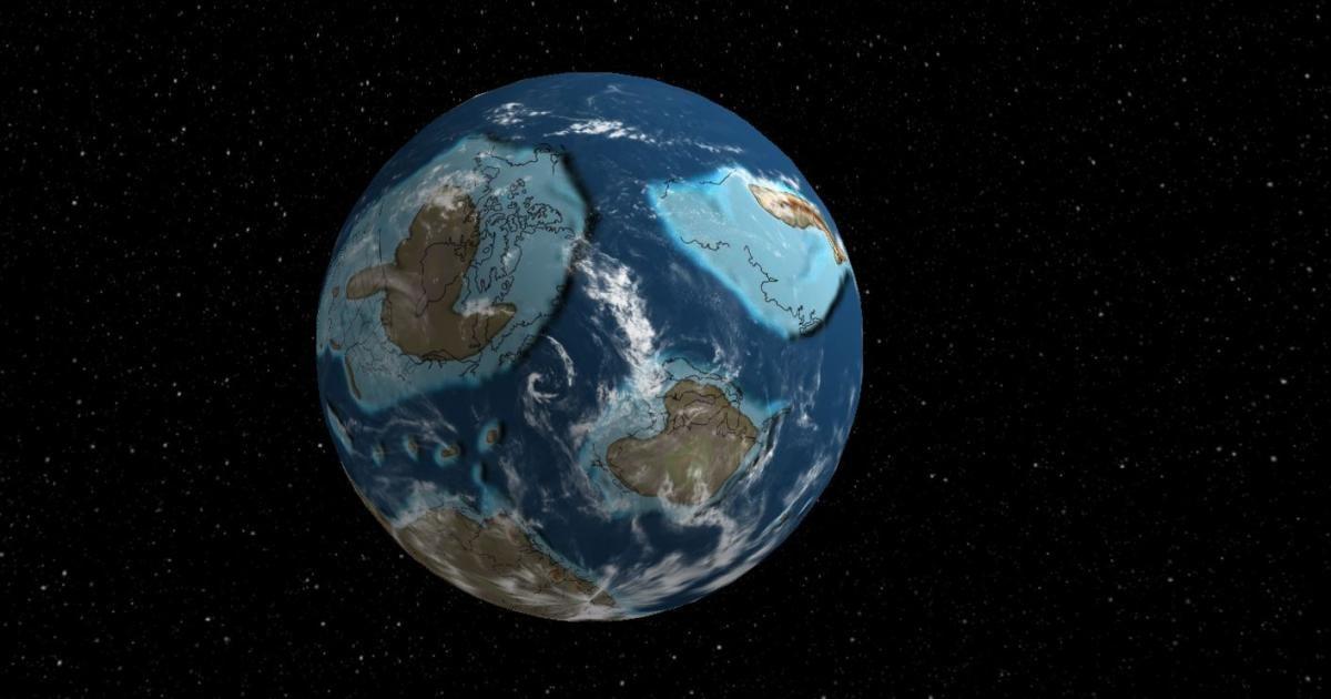 Website zeigt mit 3D-Globus, wie die Erde vor Jahrmillionen ausgesehen hat