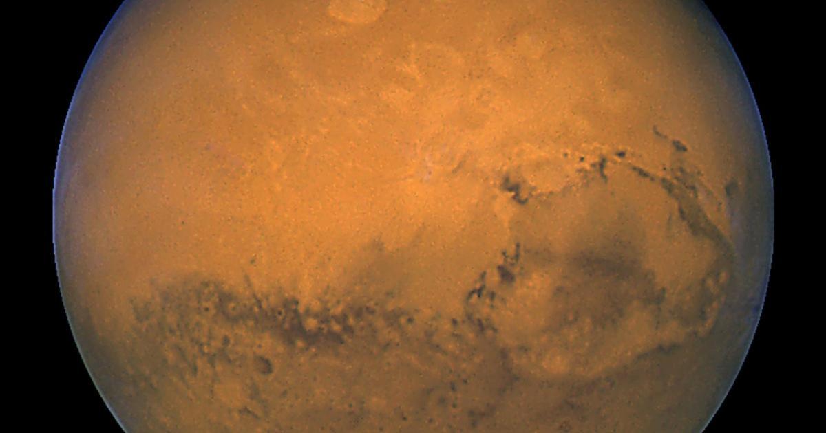 Sonde gräbt sich in den Marsboden