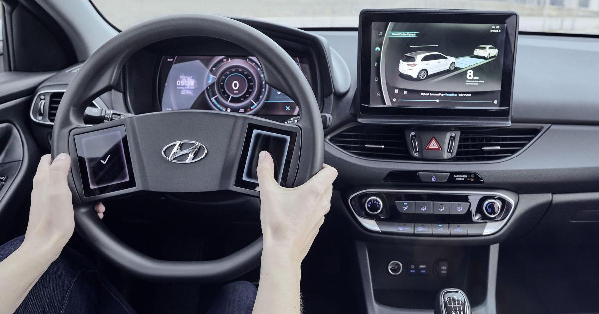 Hyundais Cockpit der Zukunft kommt mit Touchscreens am Lenkrad