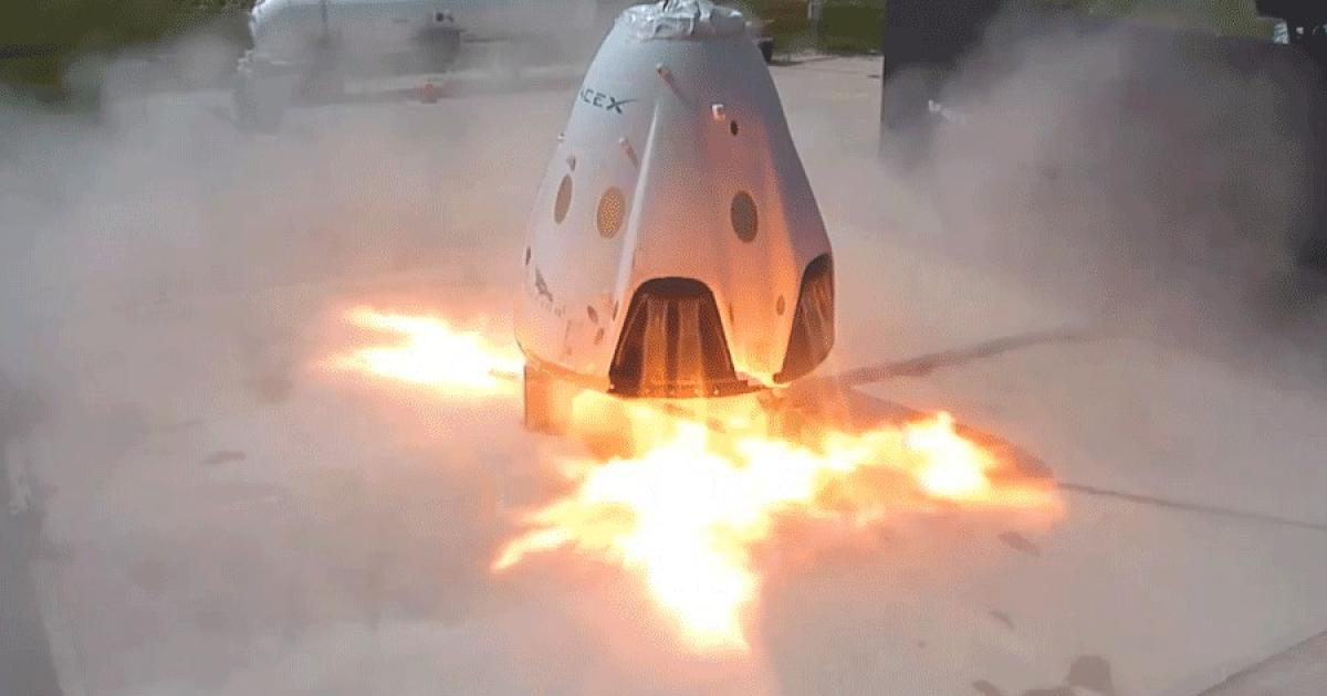 Image result for SpaceX capsule is ANNIHILATED in safety test 'anomaly'
