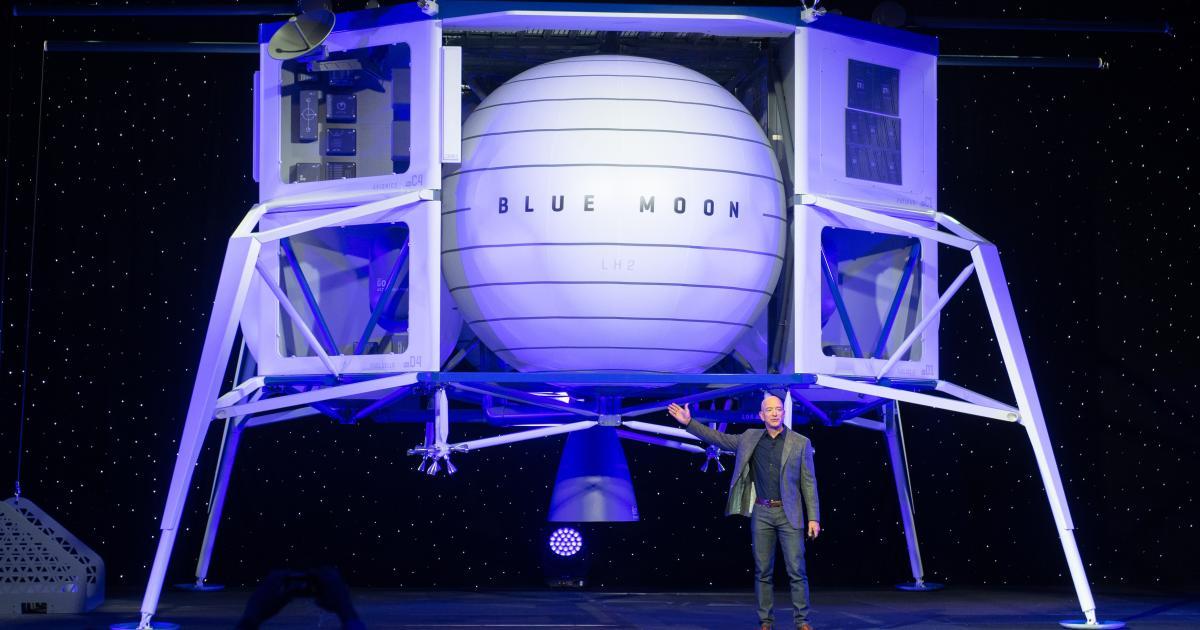 Jeff Bezos stellt Mondlandefähre Blue Moon vor