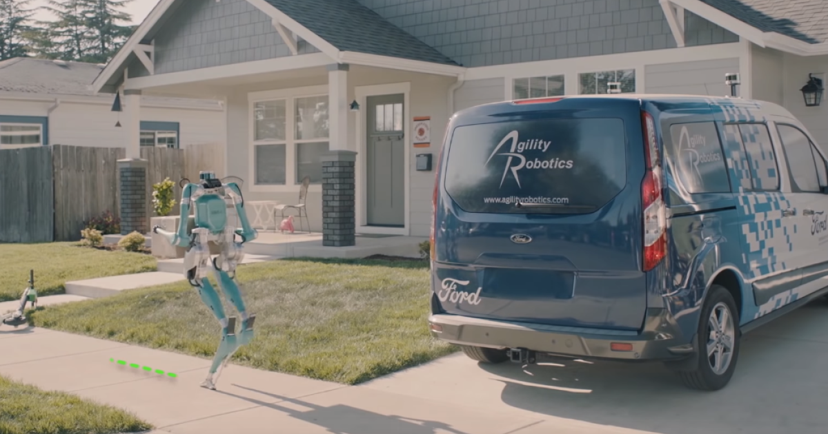 Video zeigt gruseligen Paketzusteller-Roboter von Ford