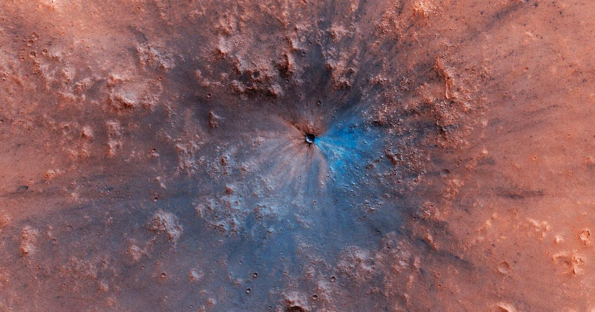 Mysteriöser Krater auf dem Mars entdeckt