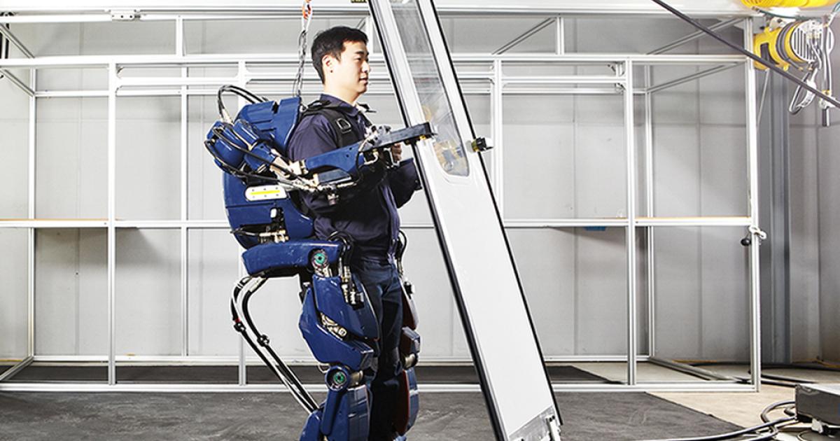 Exoskelett verleiht Arbeitern Superkräfte