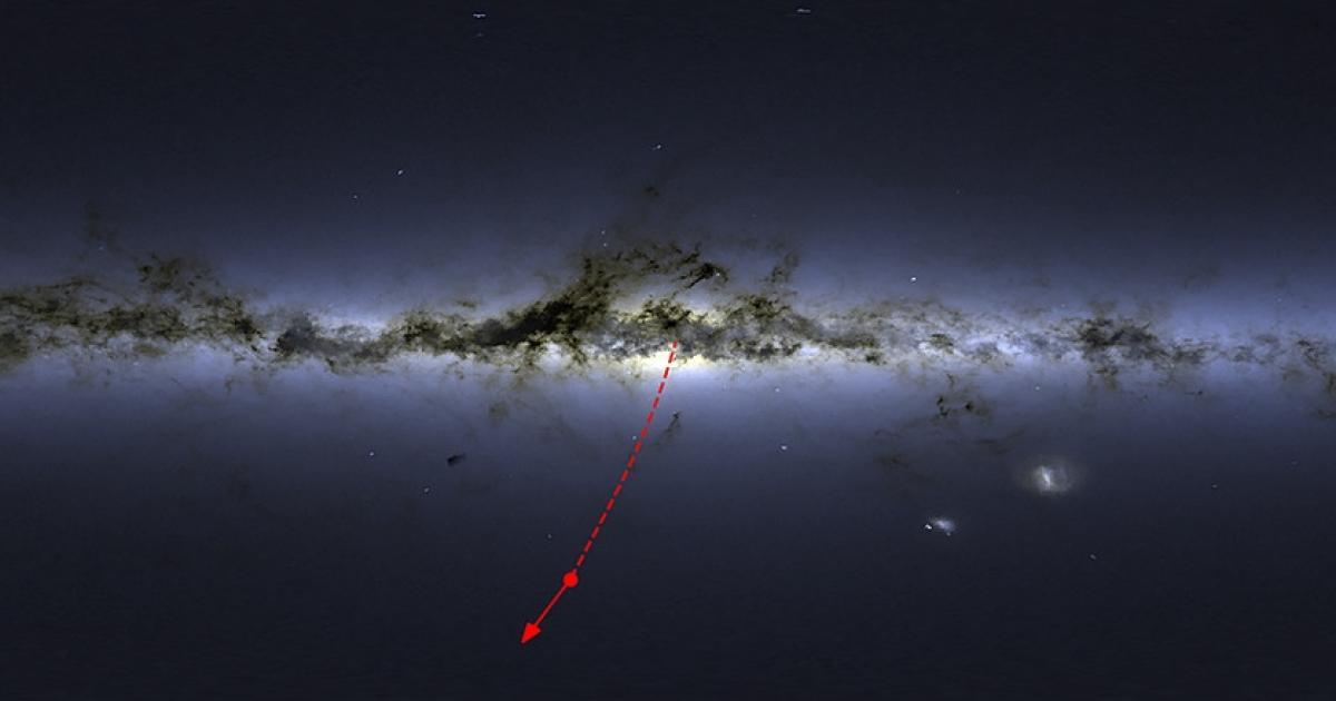 Schwarzes Loch schmeißt Stern aus unserer Galaxie raus