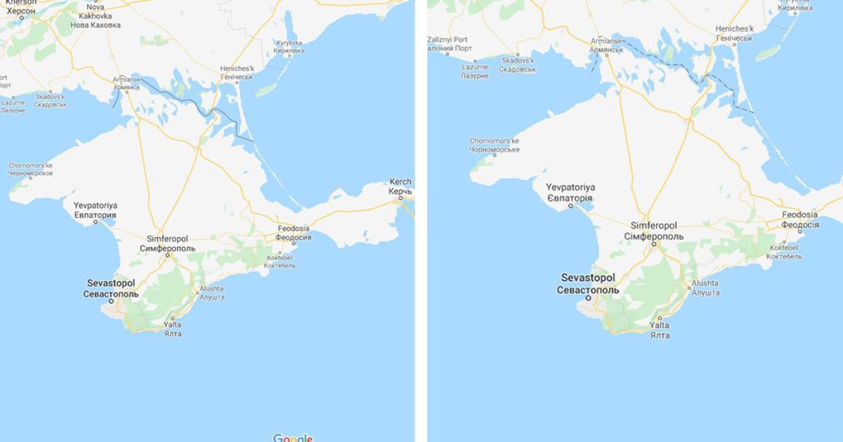 Google Maps zeigt Nutzern unterschiedliche Ländergrenzen an