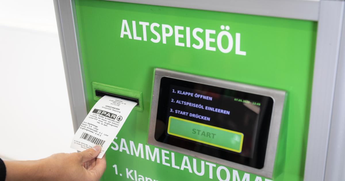 Altes Speiseöl im Supermarkt entsorgen und Geld dafür bekommen