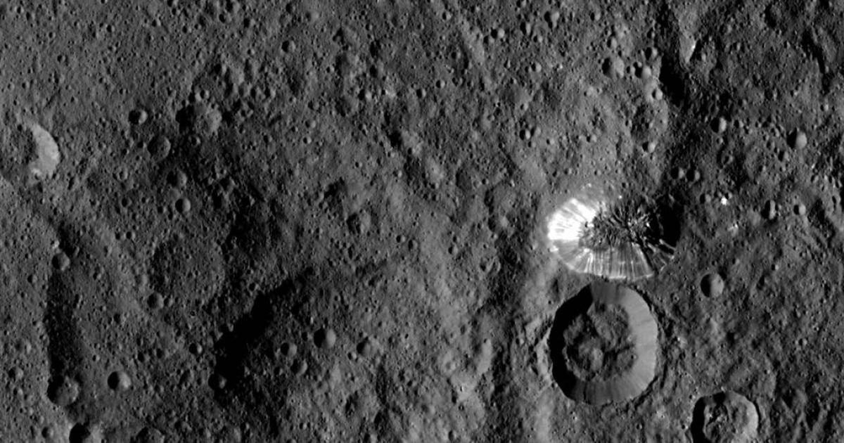 Mysteriöser Kegel-Berg auf Zwergplanet Ceres entdeckt