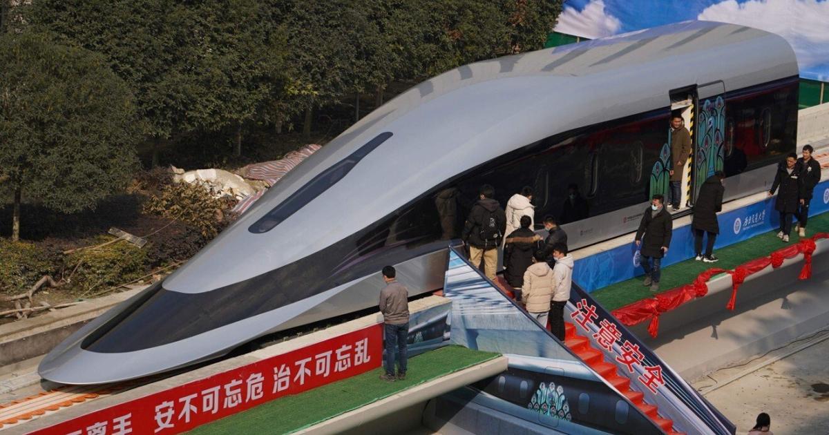 Bis zu 800 km/h: China zeigt neuen Hochgeschwindigkeitszug