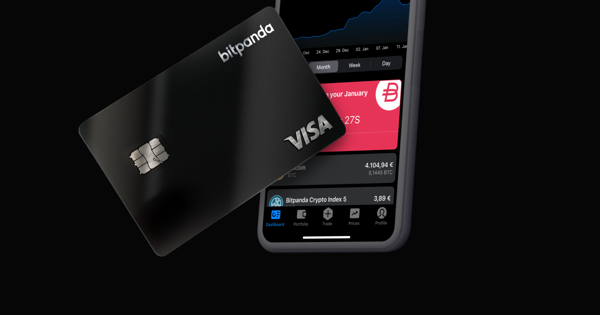 Visa-Karte von Bitpanda erlaubt in Bitcoin und Gold zu zahlen