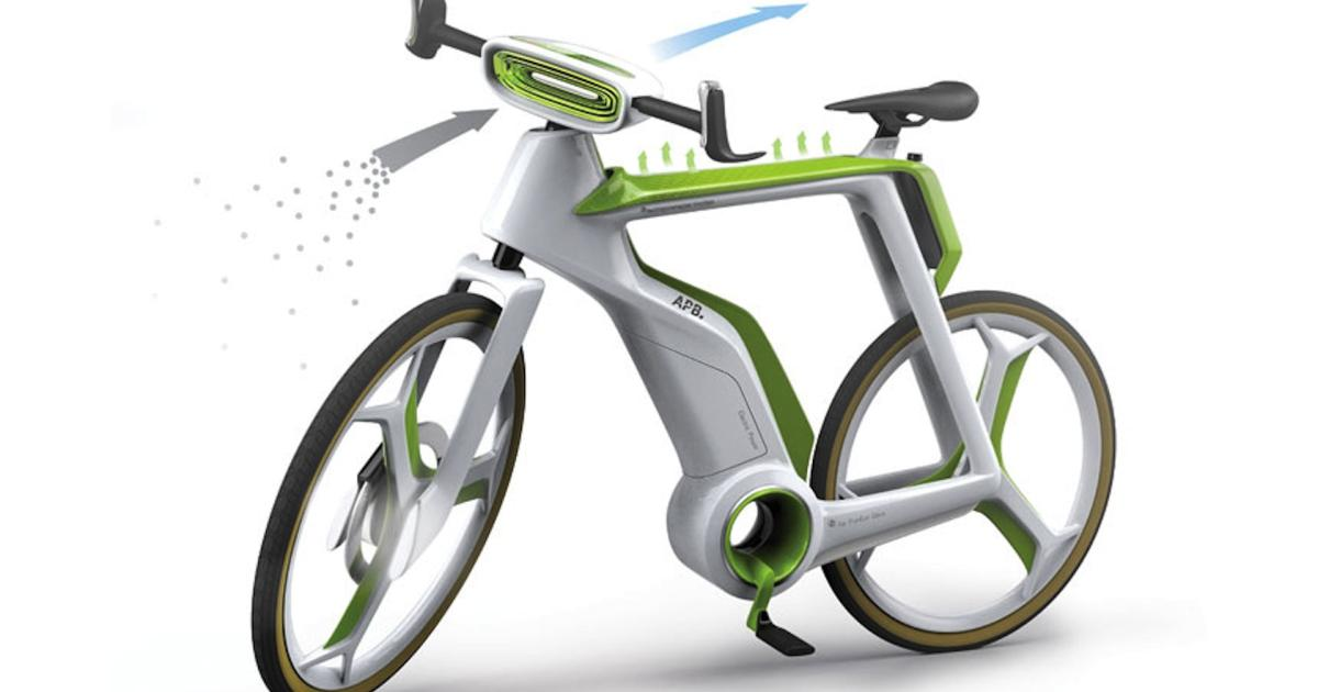 air purifier bike e bike reinigt die luft beim fahren. Black Bedroom Furniture Sets. Home Design Ideas