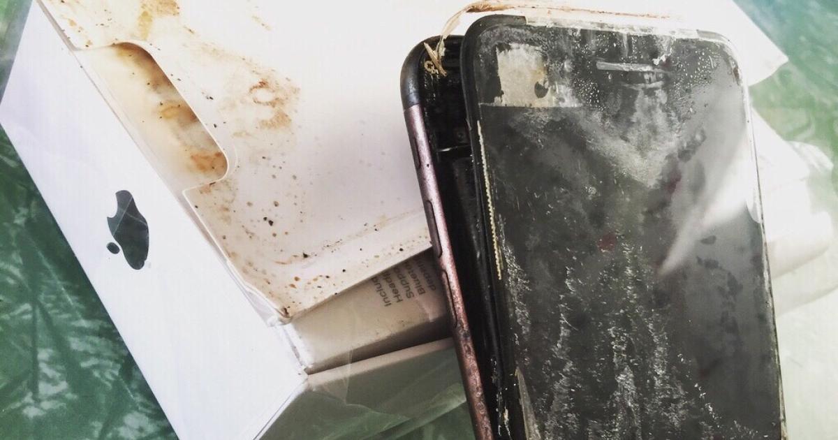 Apple iPhone 7 angeblich auf dem Transportweg explodiert